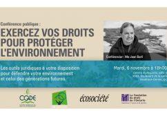 Tournée du Centre Québécois de Droit de l'Environnement
