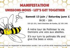 Manifestation pour la protection des abeilles